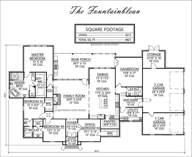 Madden home design the fountainbleau forever home for Madden home designs