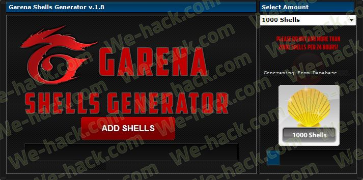 Garena Shells Generator - we-hack.com - Home of Hacks