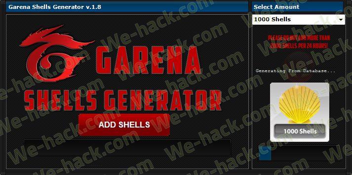 Hack Garena Shells – Garena Shells Generator | Shells in 2019