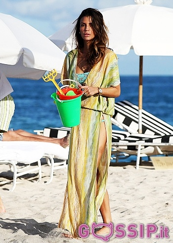 Claudia Galanti wears a caftan from the Missoni Summer 2012 collection.