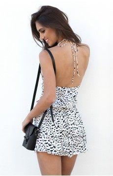 Rendezvous Dress Snow Leopard
