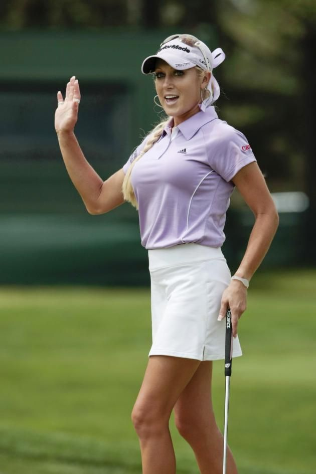 Golfer Natalie Gulbis may not be used to wearing collared shirts and khakis on the putting green, but she stripped down to nothing but body paint for the…