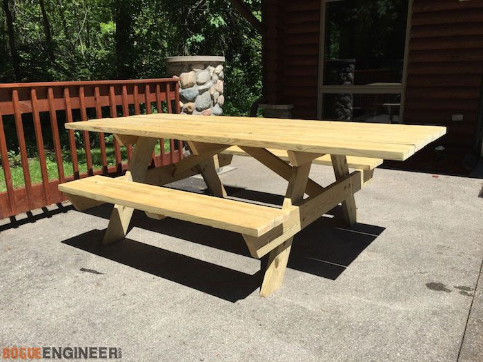 Wheelchair accessible picnic table picnic tables for D i y garden bench designs