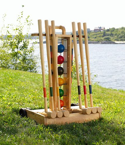 Old-fashioned lawn games for summertime!==Used to play this as a family all the time!