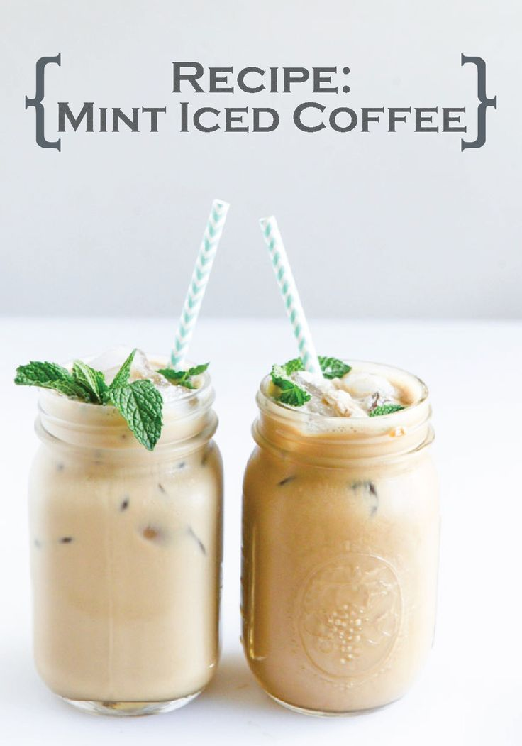 Make your morning sweet with this delicious and refreshing Mint Iced Coffee drink recipe!