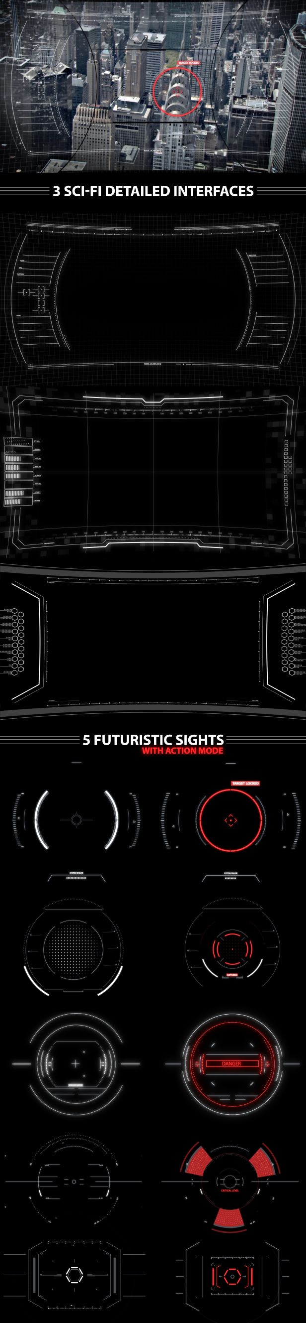 After Effects Project Files - Sci-fi Interfaces and Sights pack | VideoHive