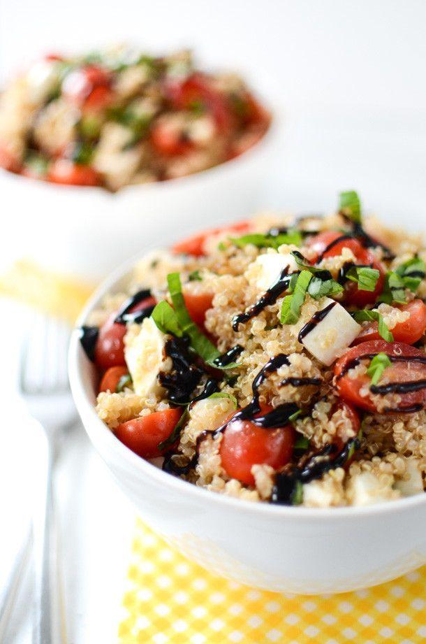 Caprese Quinoa Salad | Quinoa Recipe | Salad Recipe | Easy Vegetarian Recipe