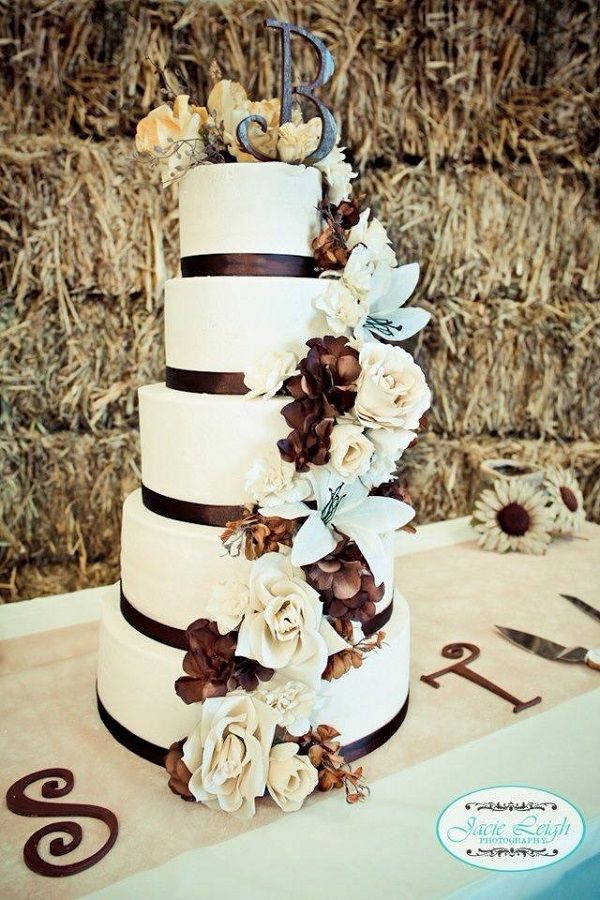 This would be a really cute cake for a country birthday. It looks like a wedding cake but it's suppose to be huge.