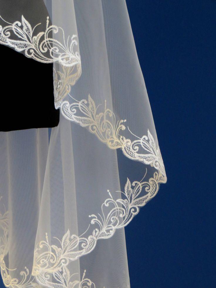 Wedding veil with embroidered edge, Lace bridal veil, Mantilla veil, 2 tier veil, two layer veil, Wedding veil, Embroidered bridal veil, Lace veil, Wedding inspiration, Cathedral veil, Embroidered veil, Bride to be, Custom veil, Etsy wedding, Drape style veil, Gold lace veil, Long veil, Chapel veil, Ivory veil, Fingertip veil, Wedding dress #wedding #bridalveil #weddingveil #weddingdress #bridalgown #weddinginspiration #weddings #bridalhair #weddinghair #weddingaccessories