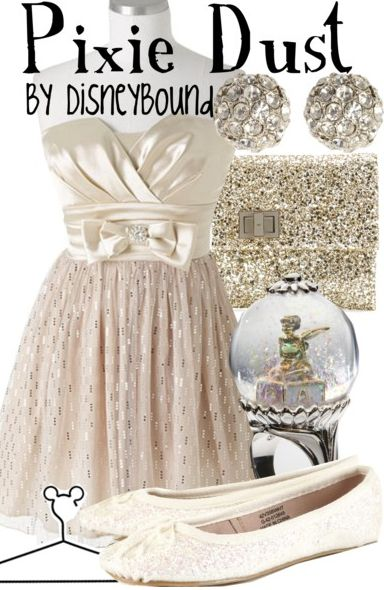 : Pixie Dust, Disney Style, Disney Inspired, Inspired Outfits, Disneybound, Disney Bound, Tinker Bell, Disney Fashion