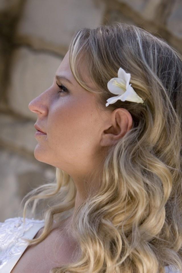 #Bruidskapsel lang haar