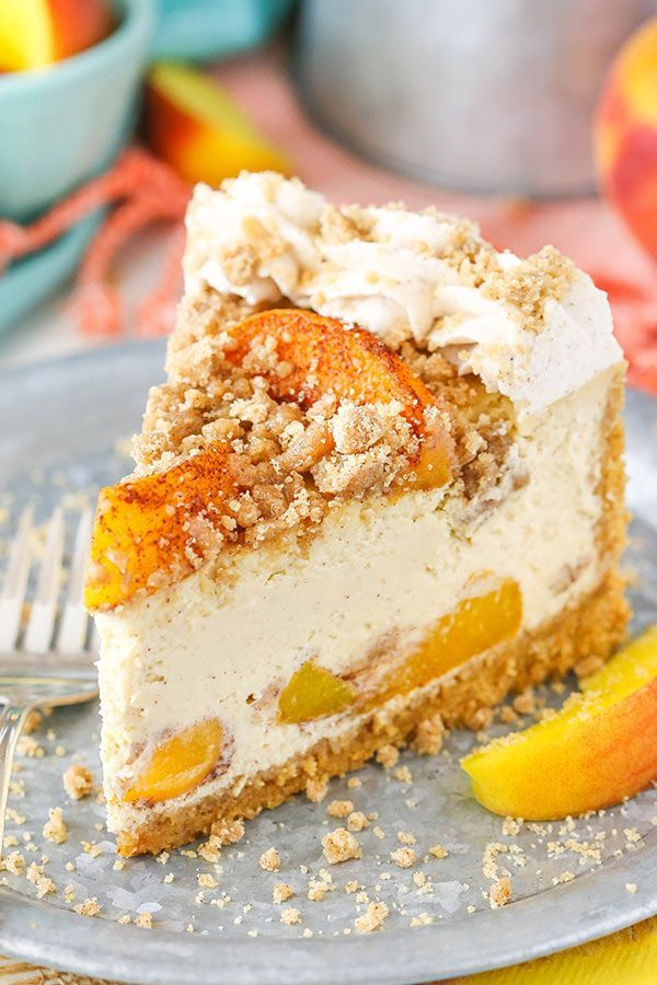 This Bourbon Peach Streusel Cheesecake is one of my very favorite recipes from my cookbook and I'm so excited to share it with you today! The combination of peaches, bourbon, brown sugar and cinnamon is ridiculously yummy! Gosh it feels like forever that my cookbook has been out, but it's really only been a little …