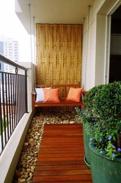 balcony decor. I love this idea! What a great way to make it feel more like the good old outdoors!