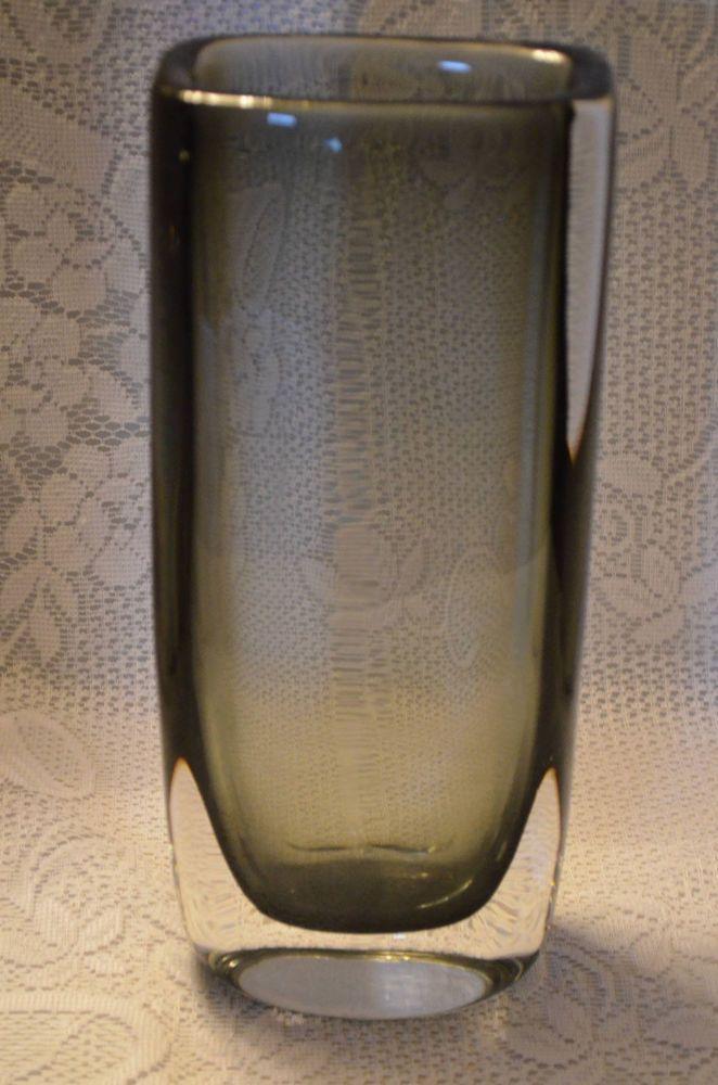 Nils Landberg Cased Glass Sommerso Vase for Orrefors Signed Mid-Century Modern #Orrefors #MidCenturyModern