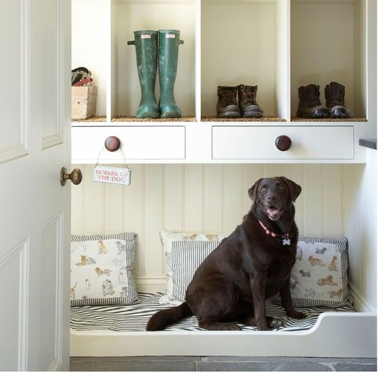 Ooh, I love the idea of having a special place for the dog in the mud room.  They deserve their own personal space too, right?