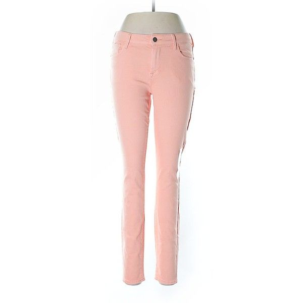 Old Navy Jeggings ($15) ❤ liked on Polyvore featuring pants, leggings, coral, denim leggings, old navy jeggings, pink pants, jean leggings and old navy leggings
