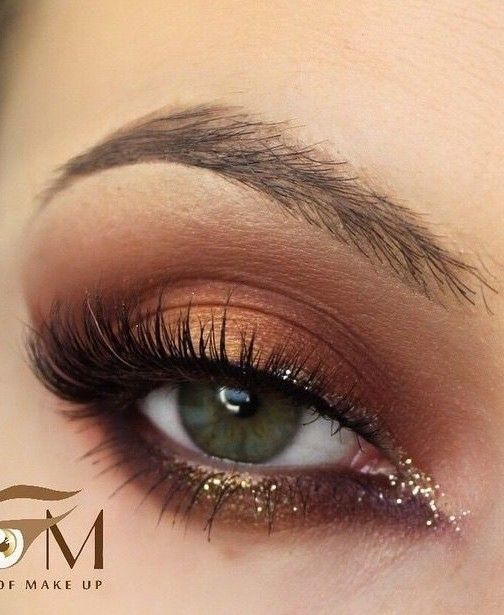 Pin Up Liner + lashes + Bronze Eyeshadow + Glittered Eye Drop
