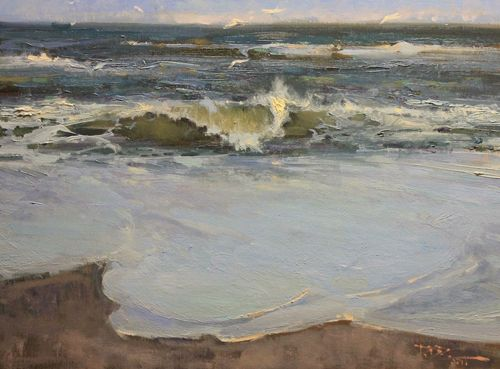 Roger Dale Brown, Breaking. Oil on Linen, 18 x 24 inches