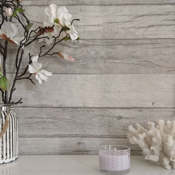 Timber  Textured Reclaimed Washed Wood Plank Effect Wallpaper Grey Tones. Not sure if this is wallpaper that needs paste but this kind of effect could work on the cupboard doors in the bedroom