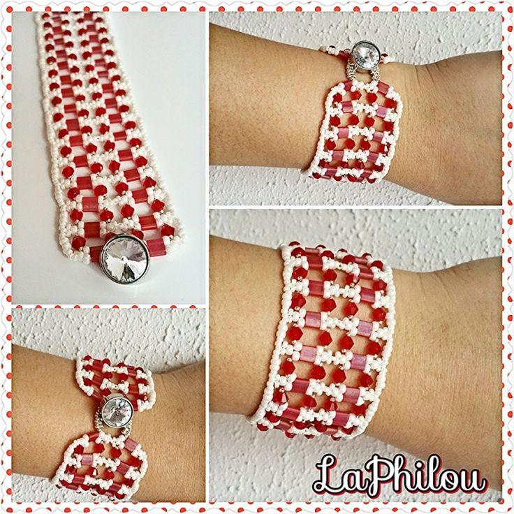 beadwork Double Tila  - LaPhilou