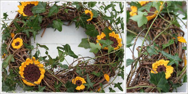 In Hooks crochet sunflowers