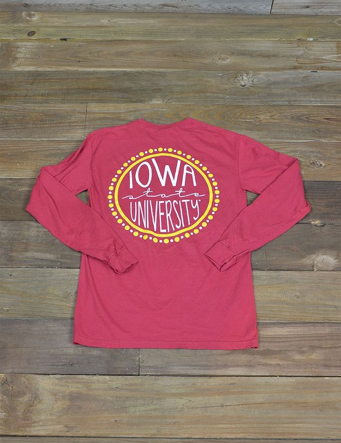 This long sleeved Cyclones t-shirt is perfect for chilly Iowa State weather. Wear it on game day, or rock it in class. Go ISU!