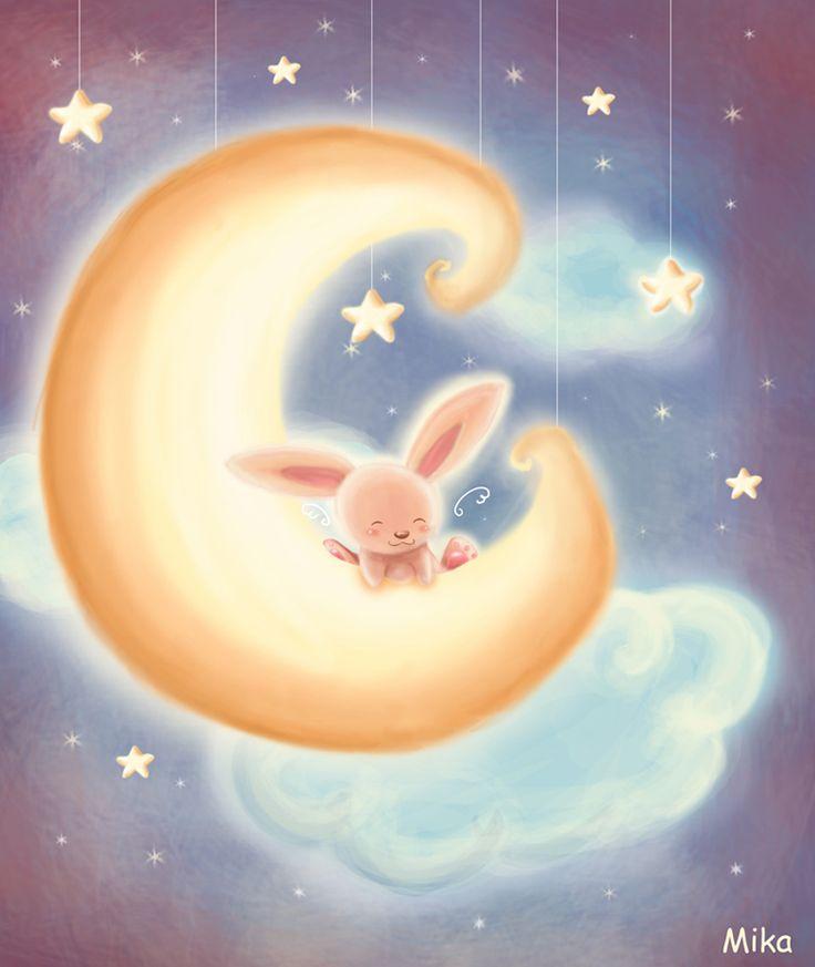Спокойной ночи зайка картинки живые