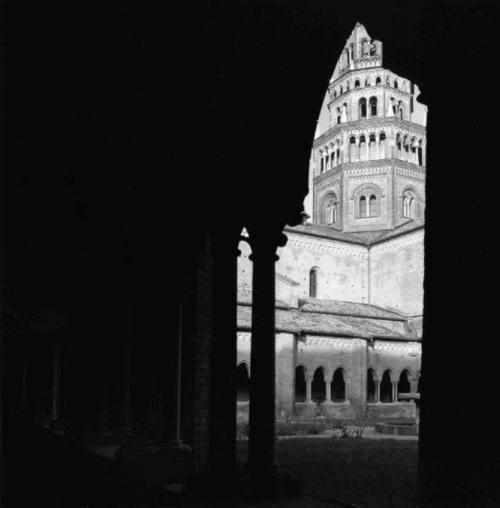 Abbazia di Chiaravalle - chiostro - campanile  Jodice, Mimmo