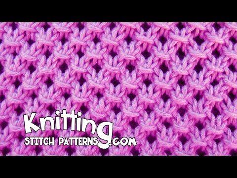 Knotted Openwork Stitch Pattern | Knitting Stitch Patterns