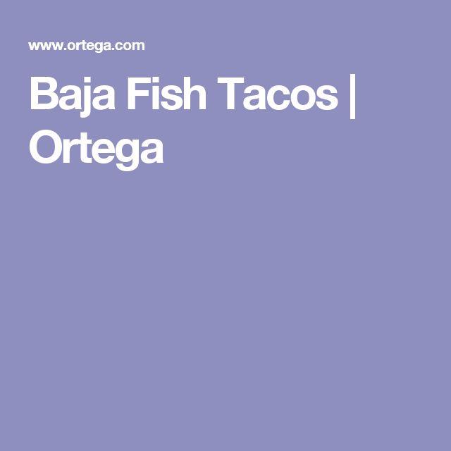 Baja Fish Tacos | Ortega