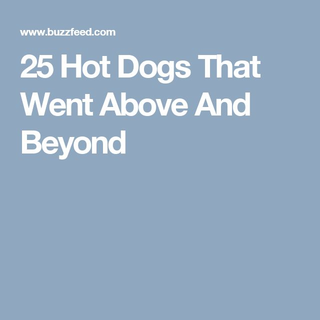 25 Hot Dogs That Went Above And Beyond