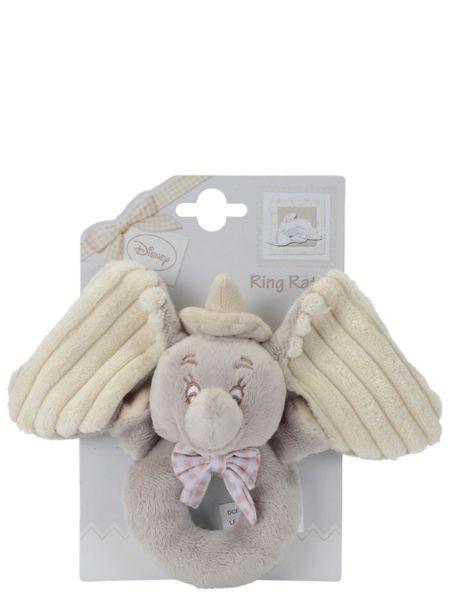 Tämä DUmbo-pehmohelistin ei kopsahda ikävästi pieneen otsaan! Pehmeä Dumbo-helistin tuntuu mukavalta käsissä, ja sitä ravistaessa kuuluu mukavaa helinää. Vain pintapesu.