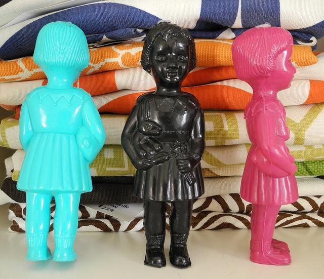 Clonette dolls back front side by Tiny Badness, via Flickr