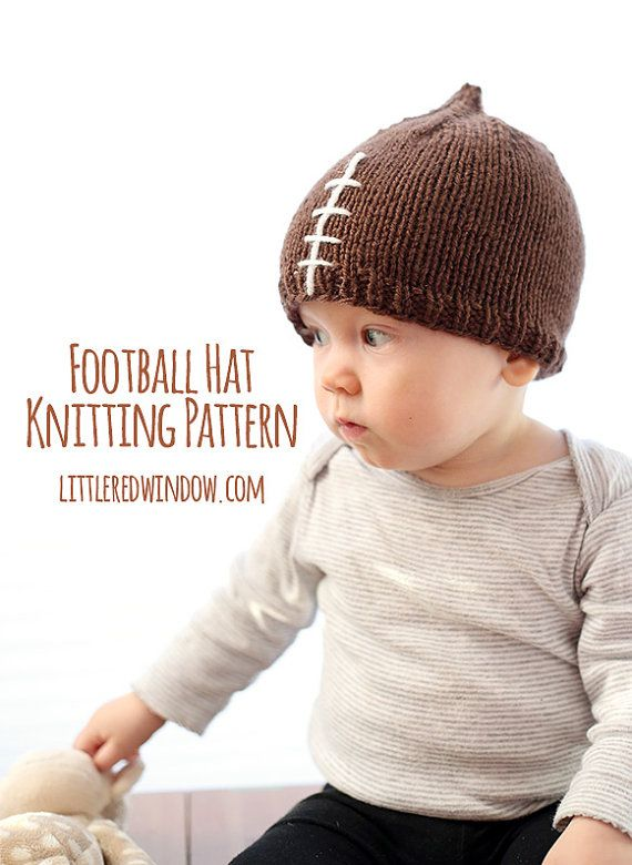 Football Hat KNITTING PATTERN / Knit Football Hat / Baby Football ...