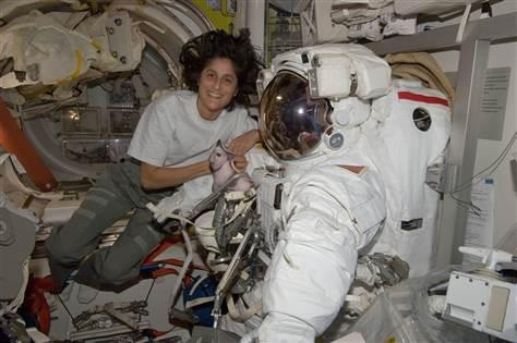 NASA astronaut Sunita Williams, who holds the record for the longest spaceflight by a woman, took charge of the International Space Station Sept 2012, becoming only the second female commander in the orbiting lab's 14-year history.  Read more: http://nbcnews.to/UcnaA8