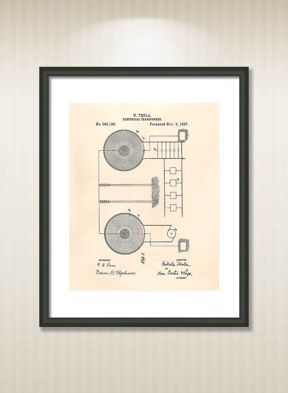 This reproduction was digitally restored and in some cases altered to remove defects or unwanted artifacts present in the original #patent document.  Buy more and save! Buy ... #patentart #art #print #gift #digital #download #instant #printable #vintage #electric #transformer ➡️ http://jto.li/dZsTh