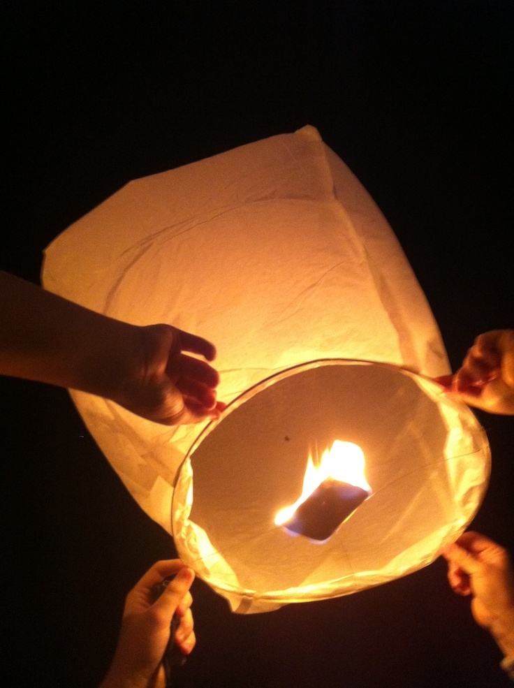 Wishing Lantern... A new family New Years Eve tradition... Write your wishes for the new year with a felt tip marker before sending off!