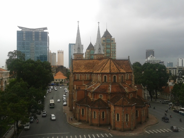 Cathedrale Notre Dame  photo at 5th floor Diamond Plaza  HCMC