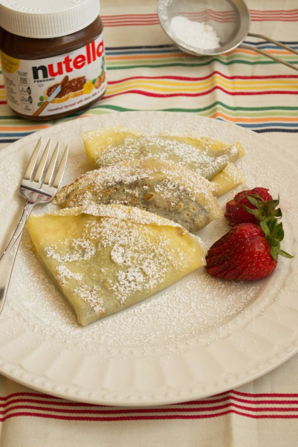 Strawberry And Nutella Crepes Recipe — Dishmaps