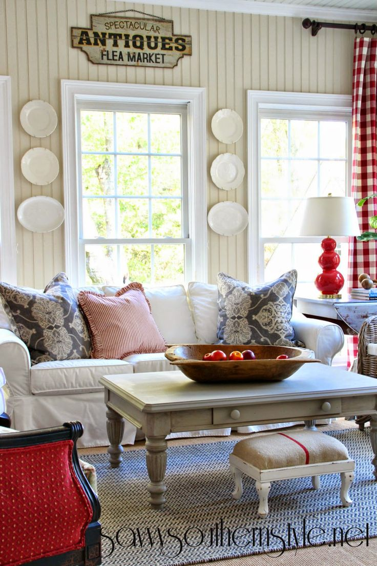 Sun Room White Sand By Benjamin Moore All Trim Is Chantilly Lace Savvy Southern StyleFarmhouse Living