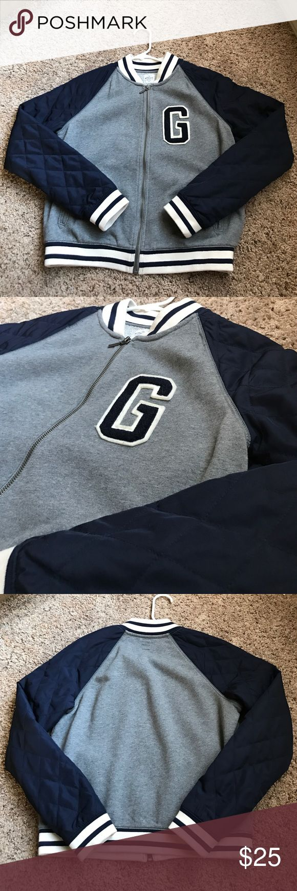 Letterman like GAP jacket Letterman like GAP jacket. Very warm and comfortable. Navy blue and almost brand new! GAP Jackets & Coats