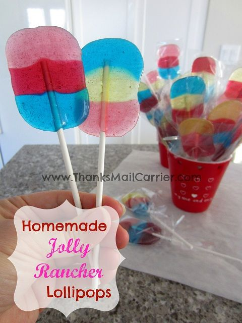 I made these... it actually works... one of the few pins that comes out like it should... SO simple - awesome Melting Jolly Ranchers Lollipop idea!