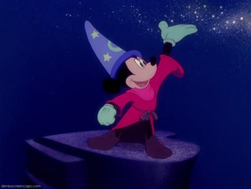 Sorcerer Mickey, his hat is such a major Disney symbol<3