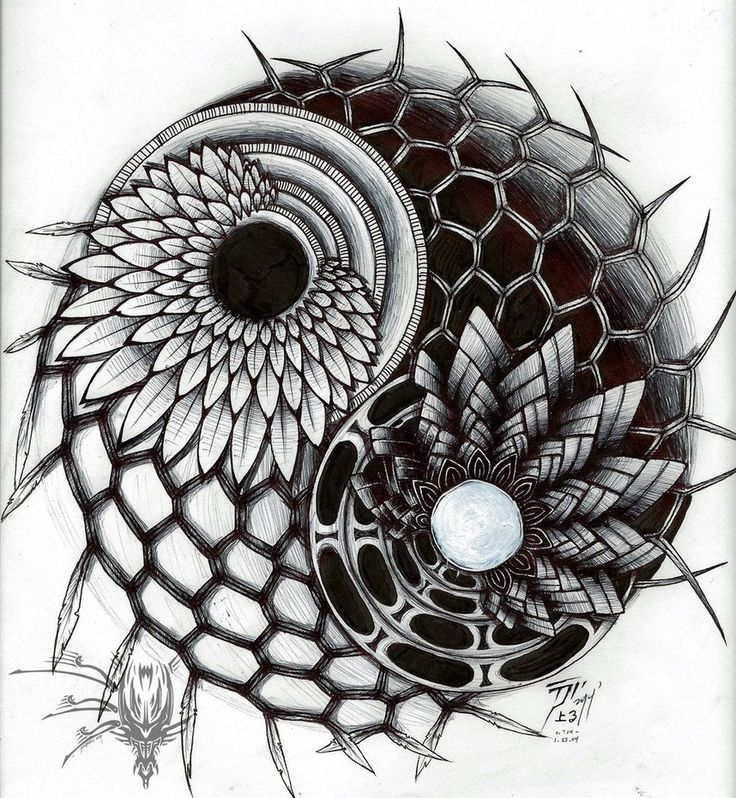 Balance: Yin Yang Zentangle Design by tsunami-noboru on deviantART