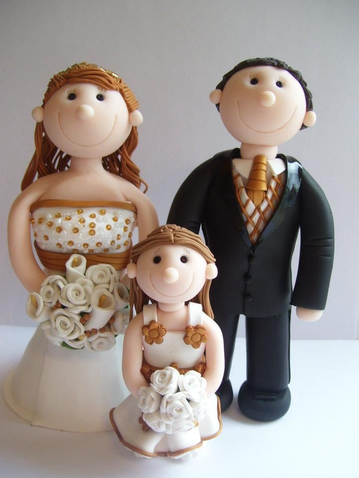 personalised Wedding cake toppers. Handcrafted. Polymer clay
