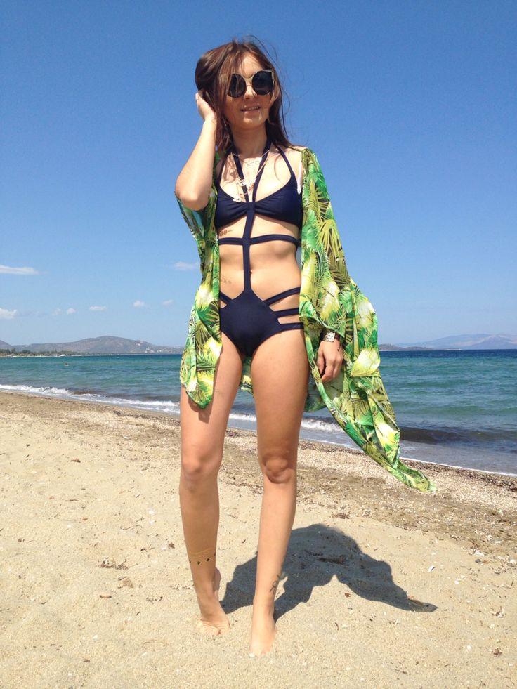 Exotic beach cardigan