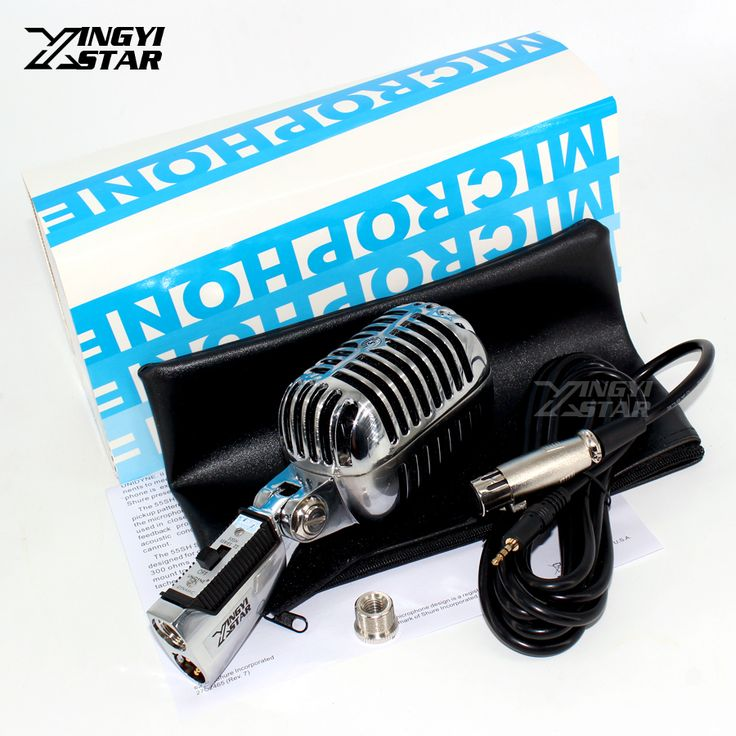 Professional 55SH Series Classic Retro Dynamic Wired Microphone 3.5mm For Computer PC Karaoke Mixer Audio KTV Vintage Style Mic