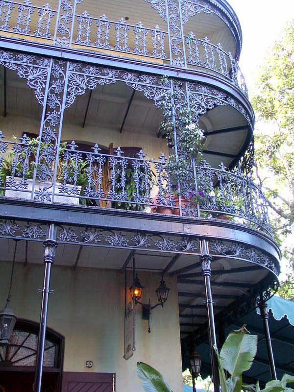 Beautiful close-up of the wrought-iron balconies that make the French Quarter so picturesque!