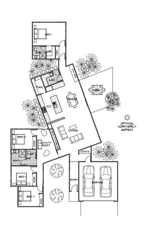 ¡Este diseño es demasiado genial! Bond | Plan de la casa | Diseños de casas con eficiencia energética | Gre …