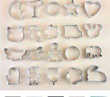 4 шт. 4 в форме горячие новые рождество кухонные инструменты алюминия плесень Sugarcraft украшения торта печенье печенье резак плесень инструмент(China (Mainland))